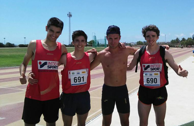 Atletisme 4x400 Oro Marc y Jan Rochelt, Ruben Titos y Andreu de la Fuente