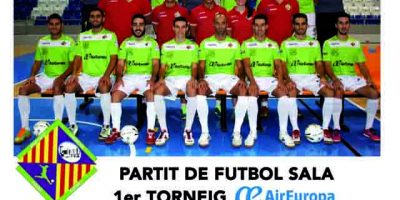cartell 1er Torneo Air Europa de futbol sala