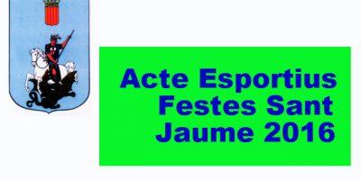 Caratula Actes esportius Festes Sant Jaume