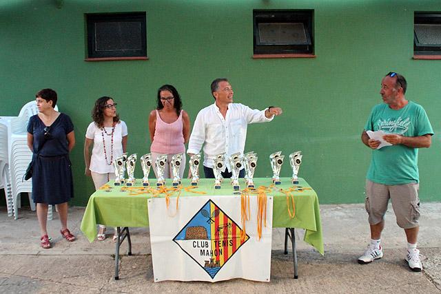Club Tenis Mahón-Entrega trofeos