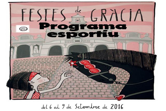 Caratula Programa esportiu Festes de Gracia