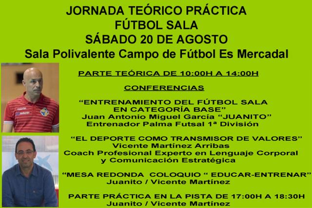 Cartel Jornada Teórico Practica Fútbol Sala