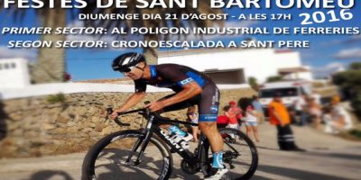 Cartell Cursa Ciclista Sant Llorenç 2016