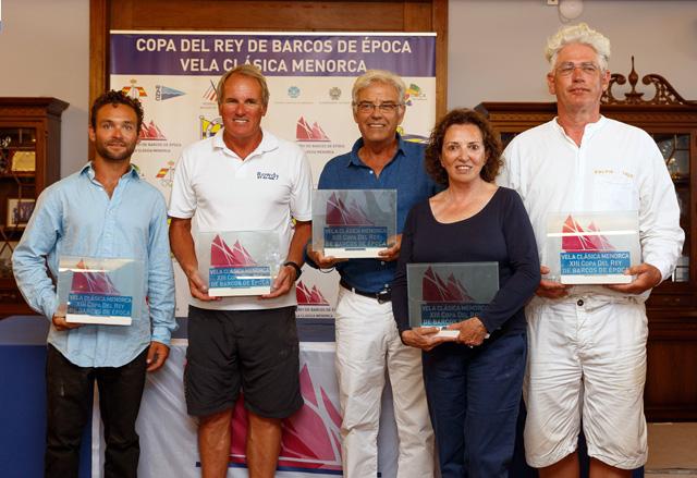 Los cinco ganadores de la Copa del Rey de Barcos de Época 2016