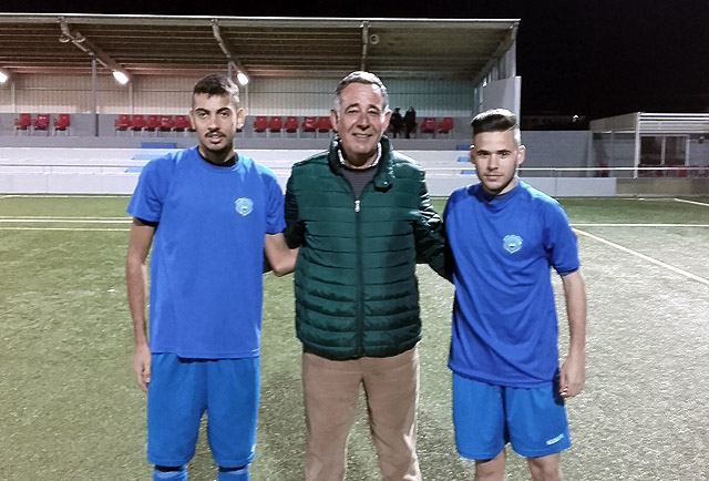 fichajes Sporting Matheus Duarte y Adrià Ruiz, con el Presidente Fernando Osuna
