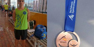 Joshua Torres-Medalla Nacional de natación Máster 2017