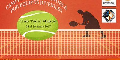 Cartel Campeonato de Menorca por Equipos Juveniles