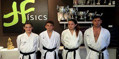 Fisics-Judith, Mariona i Julen as Nacional Karate Infantil