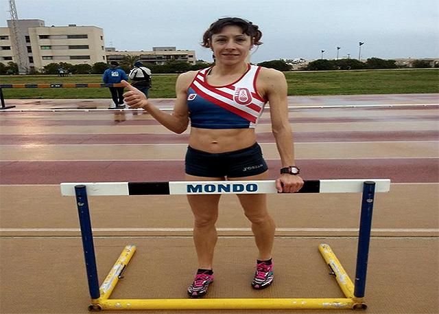 Lita Lòpez, record de España 80 vallas M40