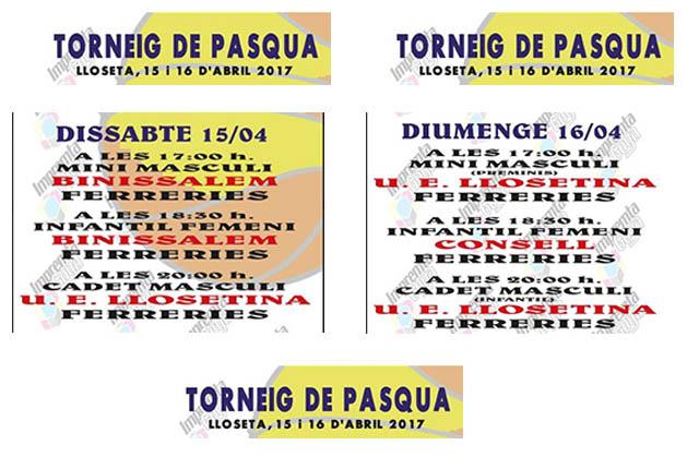 Cartell torneig CB Ferreries a Mallorca