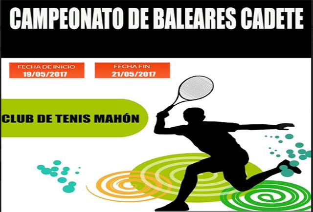 Cartel Balear cadete de tenis