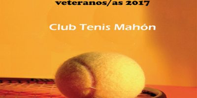 Cartel Campeonato Menorca veteranos