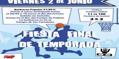 Cartel fin temporada CCE Sant Lluís
