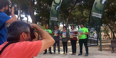 Presentación en la plaça des Pins (Foto Trail Menorca)