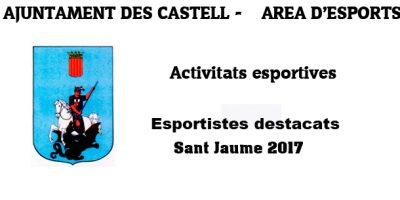 Caratula-Esportistes destacats sant jaume 2017-Es-Castell