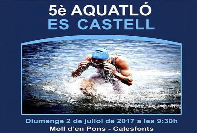 Cartell Aquatló Es Castell