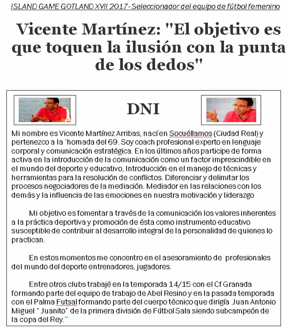Entrevista Vicente Martínez