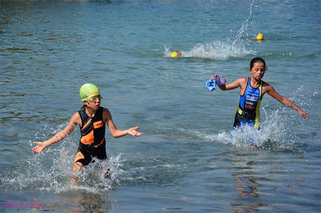 triatlón sprint -Platja Gran