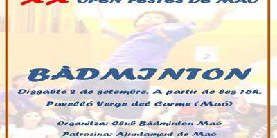 Cartel Badminton-Festes de Maó 2017