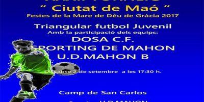 Cartell Torneig Futbol juvenil Ciutat de Maó