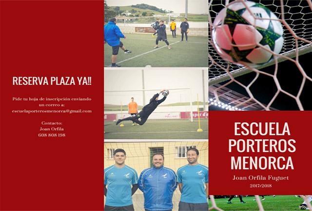 Cartel Futbol-Escuela Entre Porteros