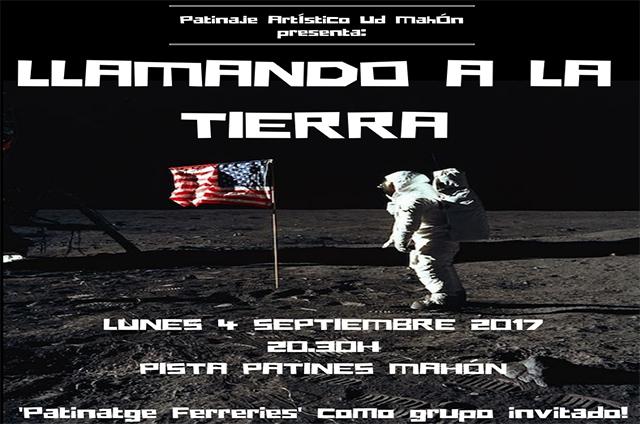 Cartell Festival patinatge UD Mahón (Llamando a la Tierra)