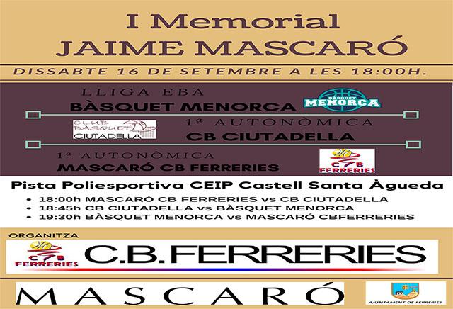 I Memorial Jaime mascaró