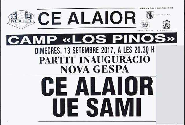 Cartell partit Alaior-nova gespa