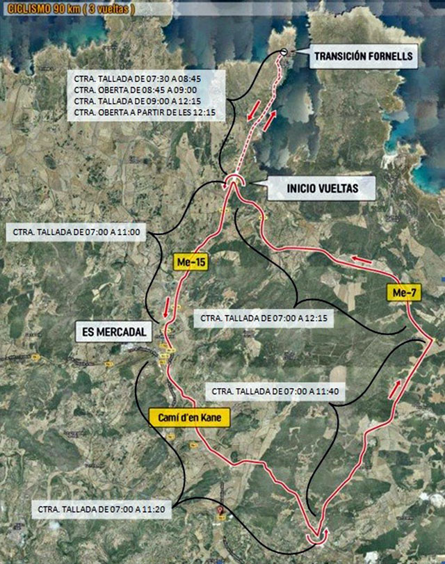 Mapa Half Menorca 2017