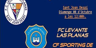 cartel partido Levante Las Planas-Sporting