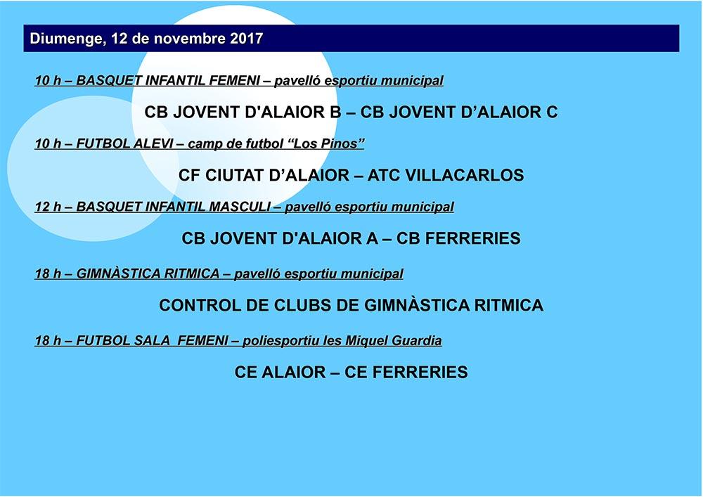 AGENDA ESPORTIVA LOCAL 2017-2018