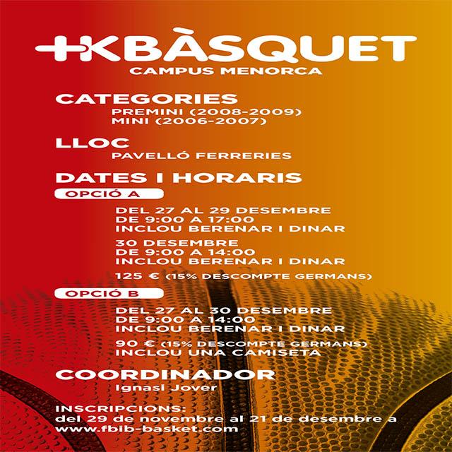 Cartell opcions Campus +Kbasquet Menorca