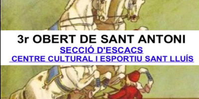 Cartell Escacs St Antoni