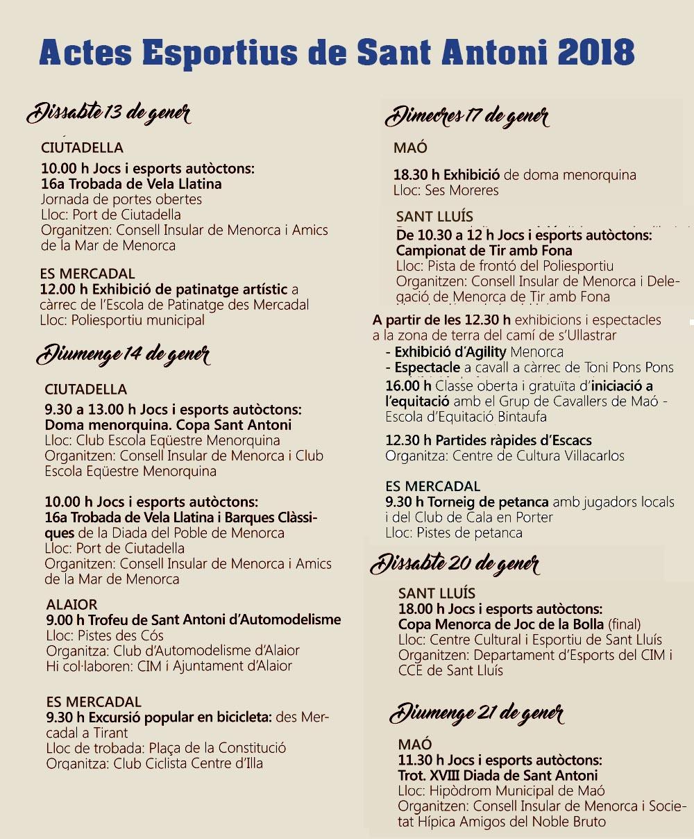 Sant Antoni-Actes esportius