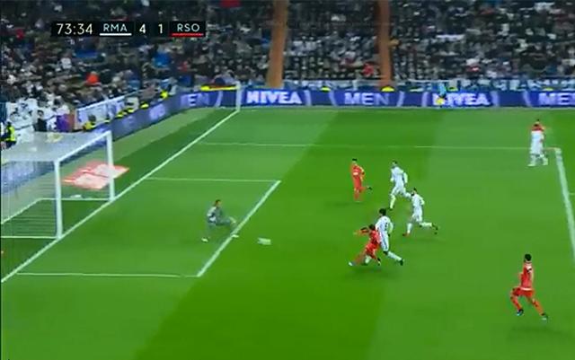 Jon Bautista -gol Bernabeu