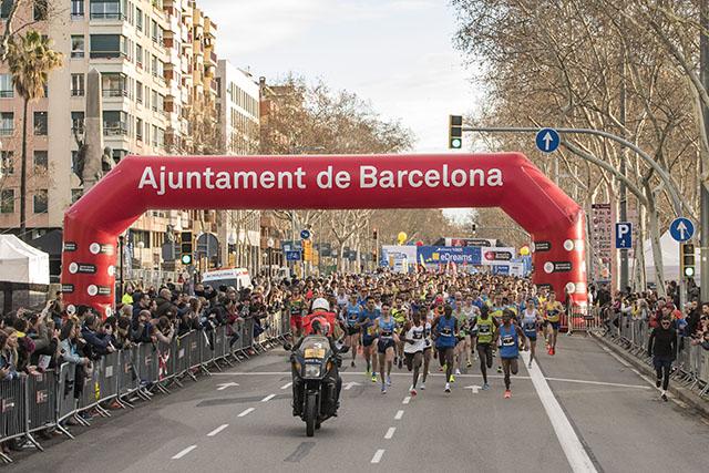 sortida-Mitja Marató de Barcelona