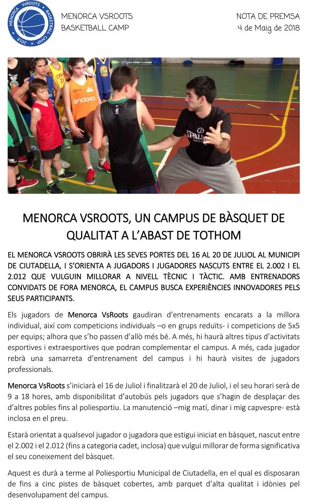 Campus Menorca VsRoots