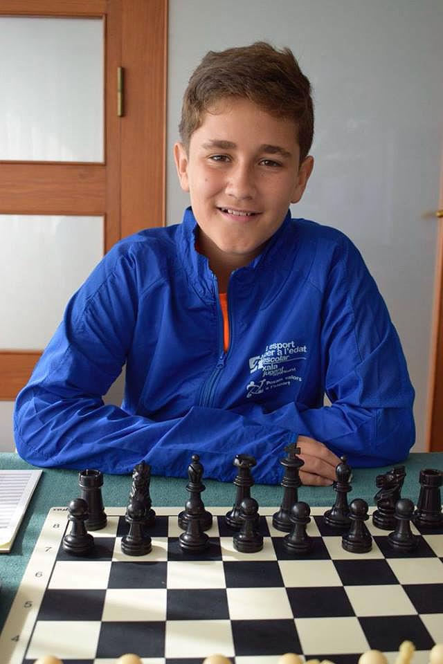 Doro Gomila, campio sub-14 escacs