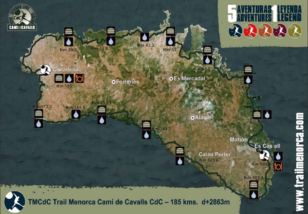 Mapa Compressport Trail Menorca CdC