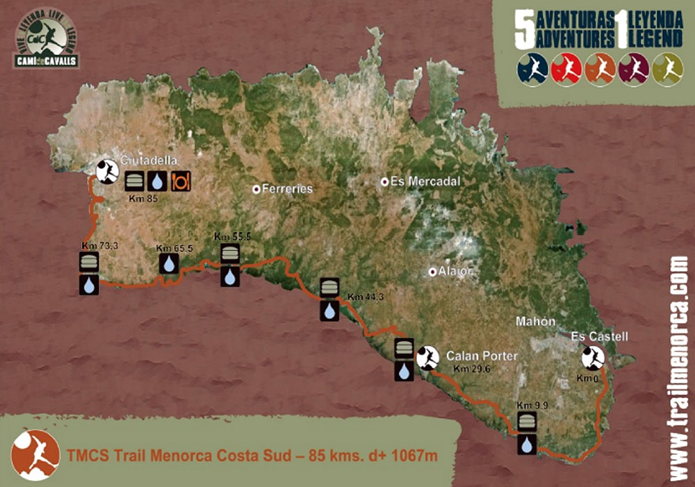 Mapa2 Compressport Trail Menorca CdC
