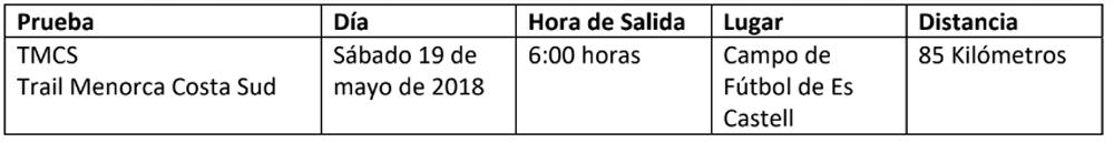 horario2 Compressport Trail Menorca CdC