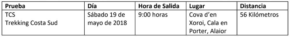 horario3 Compressport Trail Menorca CdC
