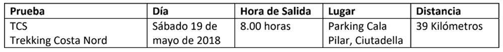 horario4 Compressport Trail Menorca CdC