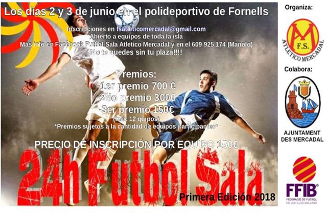 Cartel 12 hores Futbol Sala