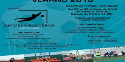 Cartel Campus de Porteros- verano