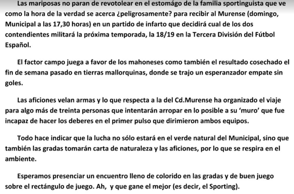 Previa Sporting-Murense