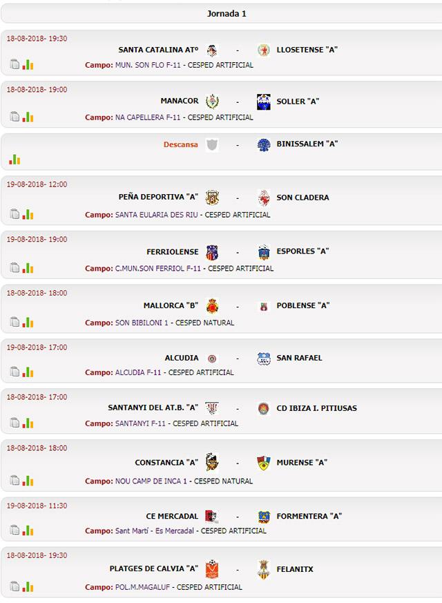 1ª jornada Tercera Balear
