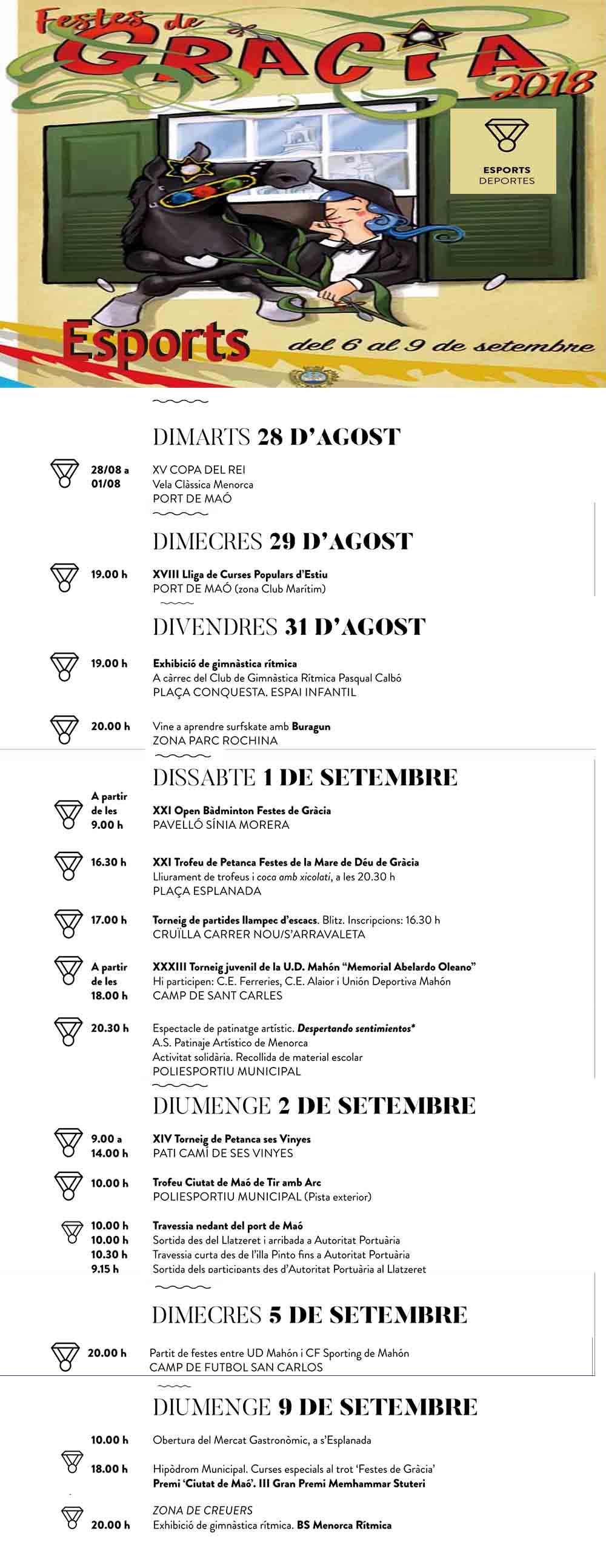 Activitats Esportives festes Gràcia 2018