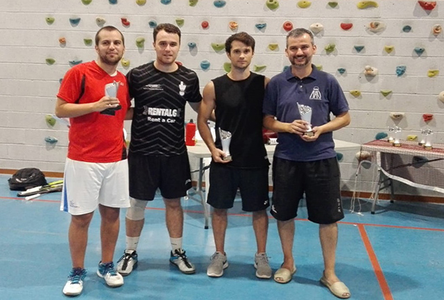 Open Festes de Maó de bádminton-Eric Navarro-Pepe Costa campions Carlos Riudavets-Pedro Ameller segons Dobles masculí