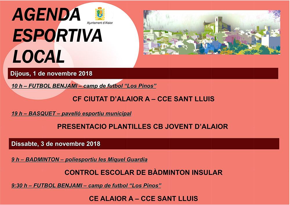 AGENDA ESPORTIVA LOCAL 2018-2019